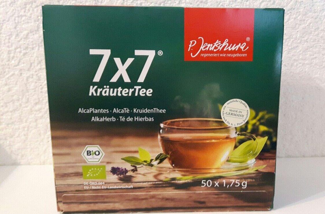 7x7 KräuterTee BIO von Jentschura  50 Beutel á 1,75g (14, 80EUR/100g)+ 3 Proben