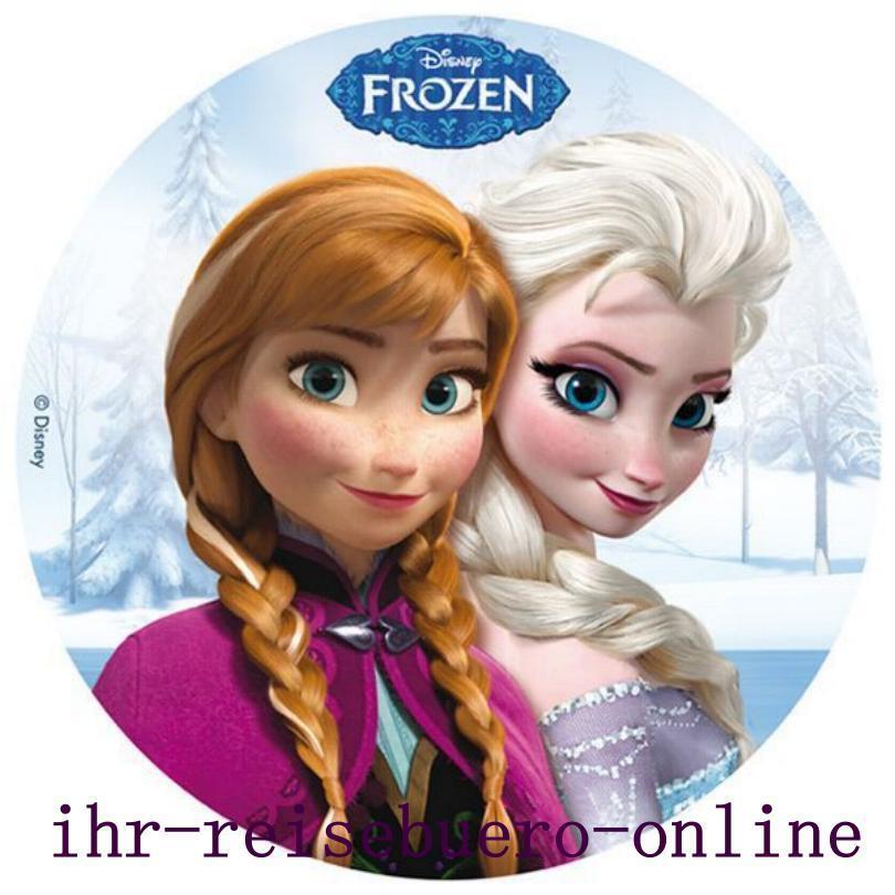 Eisknigin Frozen Elsa Anna Tortenaufleger Tortenbild
