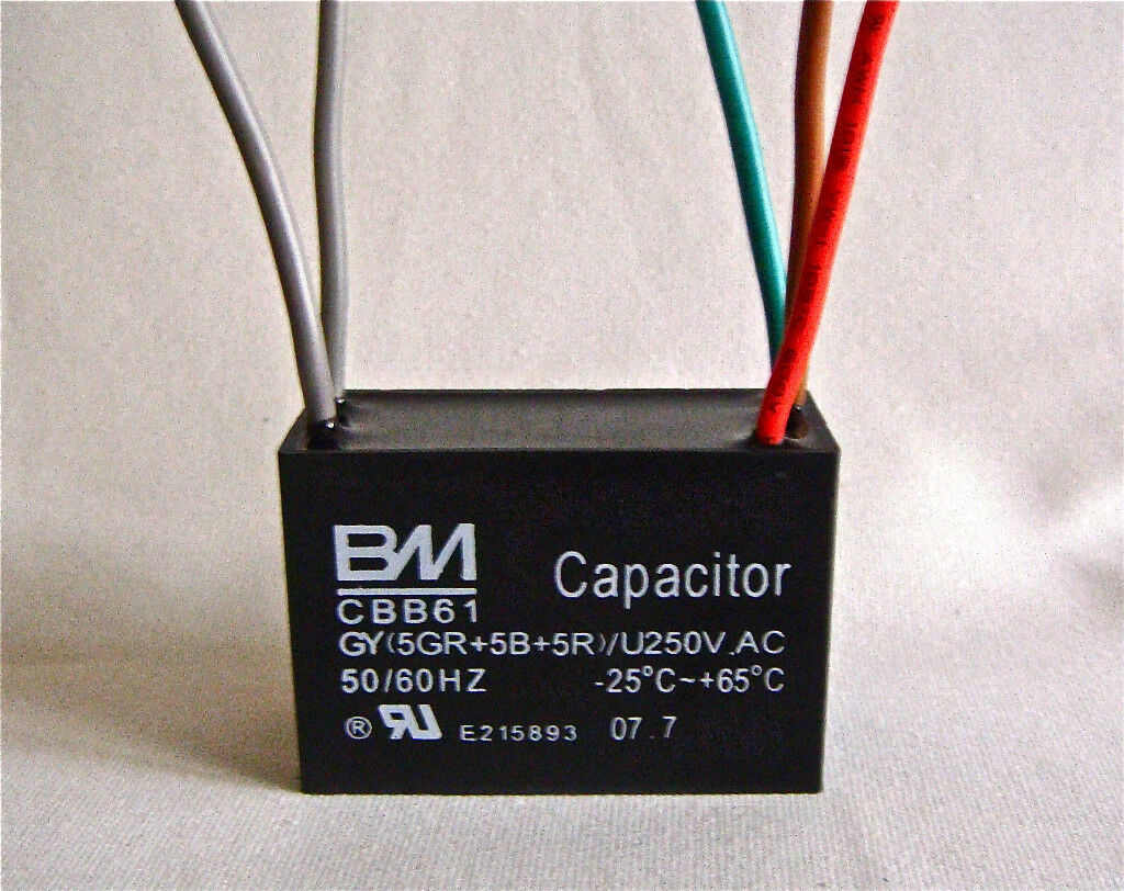 cbb61 fan capacitor wiring diagram for 2 lights and switches ceiling 5uf 43 5 wire ebay