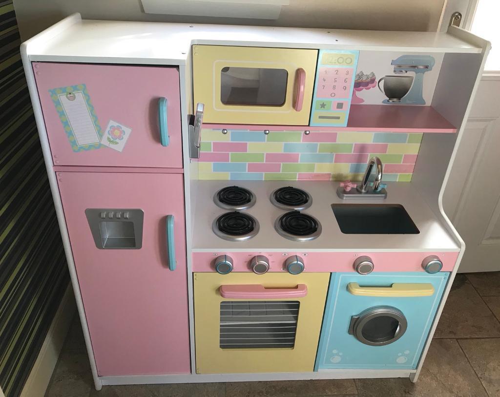 kidkraft toy kitchen white storage cabinet large pastel in haddington east lothian
