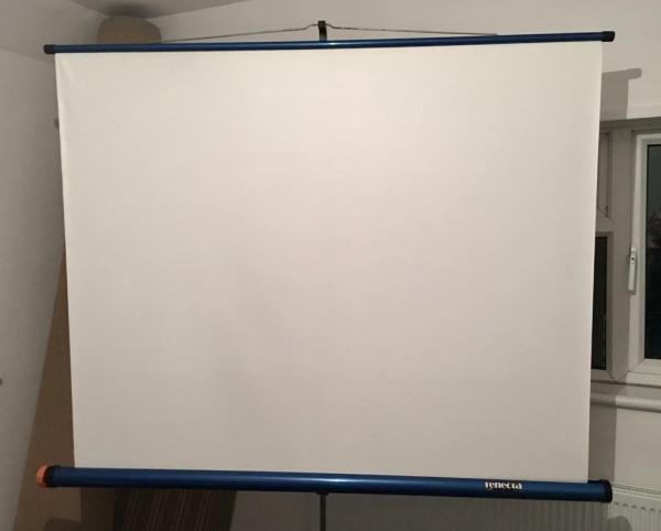 Large Retractable Projector Screen