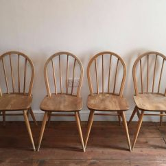 Ercol Windsor Dining Table And Chairs Normal Wheelchair 4 X Elm Vintage 1960s In