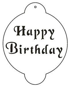 Happy Birthday Stencil For the Designer Stencil for