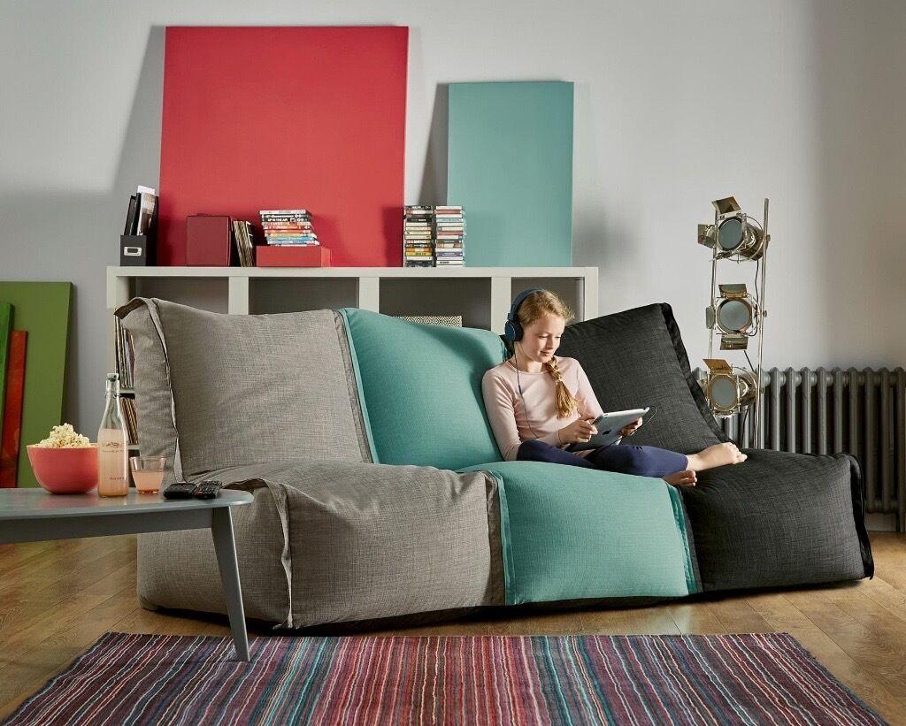 sofas under 100 pounds teal sofa living room ideas 2 x modular lounger bean bags in milton keynes