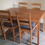 Ikea Dining Table And Chairs With Seat Cushions Kitchen Furniture In Narborough Leicestershire Gumtree
