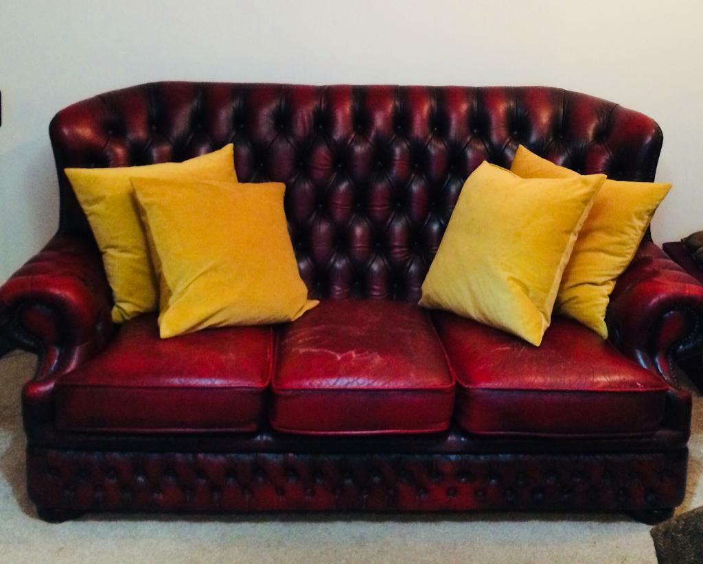 red leather sofas gumtree manchester cost of reupholstering sofa bed chesterfield winchester original in didsbury