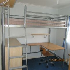 Loft Bed With Desk And Futon Chair Folding Beds Jay Be Metal High Sleeper