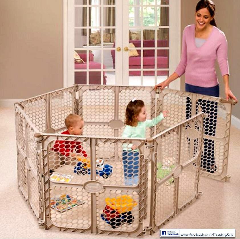 Play Center Playpen Kids Panel Indoor Outdoor Baby Home
