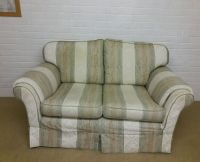 Green Striped Sofa Vintage 4 Person Green Striped ...