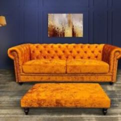 Reupholster Sofa South London Old For Sale In Pune Vintage Ercol Reupholstered Chair East Mustard Brand New Chesterfield Velvet Ottoman Table 999