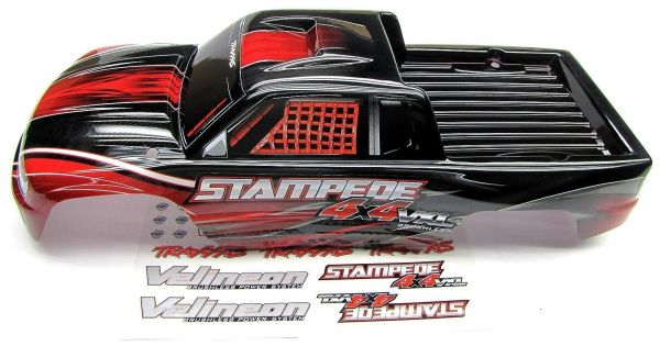 Stampede 4x4 Vxl Body Shell Red Brushless & Includes