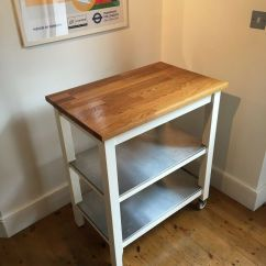 Kitchen Trolley Ge Slate Ikea Stenstorp White Oak Good Condition Excellent For Extra Storage