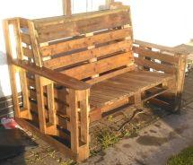 Wood Wooden Pallet Seat Furniture Front Garden