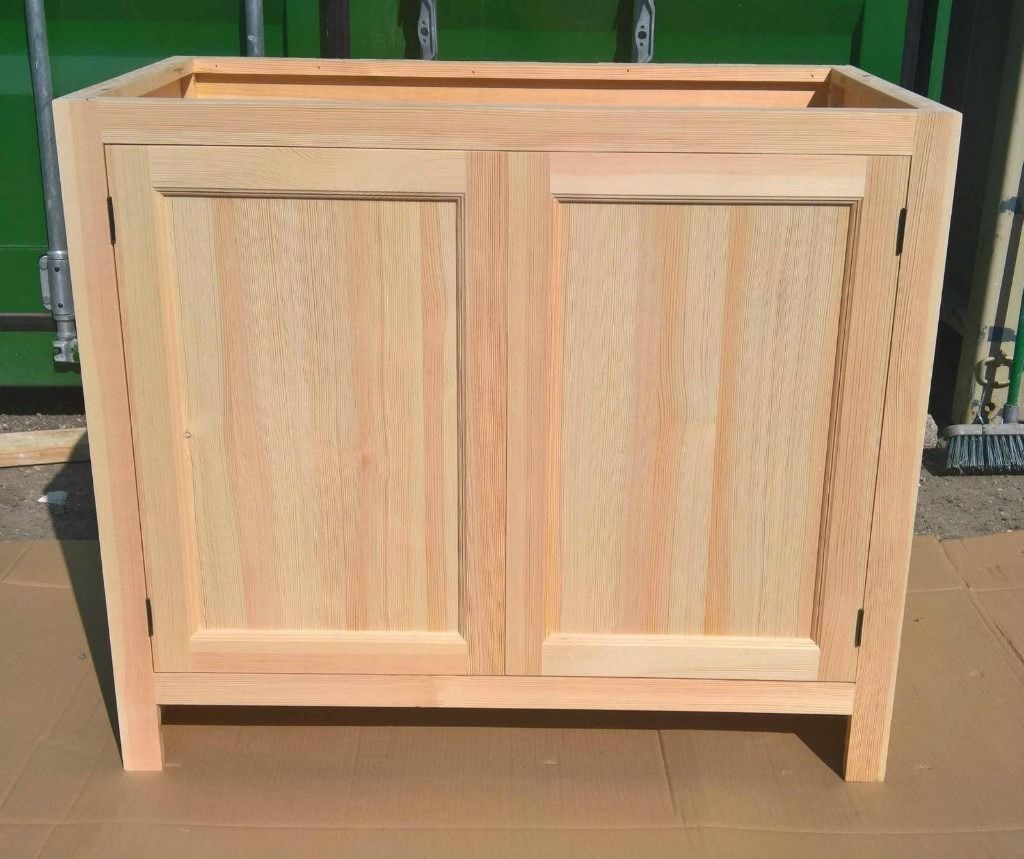 yellow pine kitchen cabinets resurface solid cabinet base unit with 2 doors in hounslow
