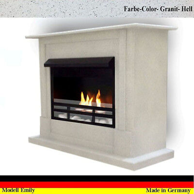 Gelkamin Ethanolkamin Kamin Fireplace Cheminee Emily Premium Royal Granit hell