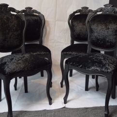 French Louis Chair Folding Near Me Shabby Chic Rococo Dining Bedroom Velvet Choose Your Colour Fabric