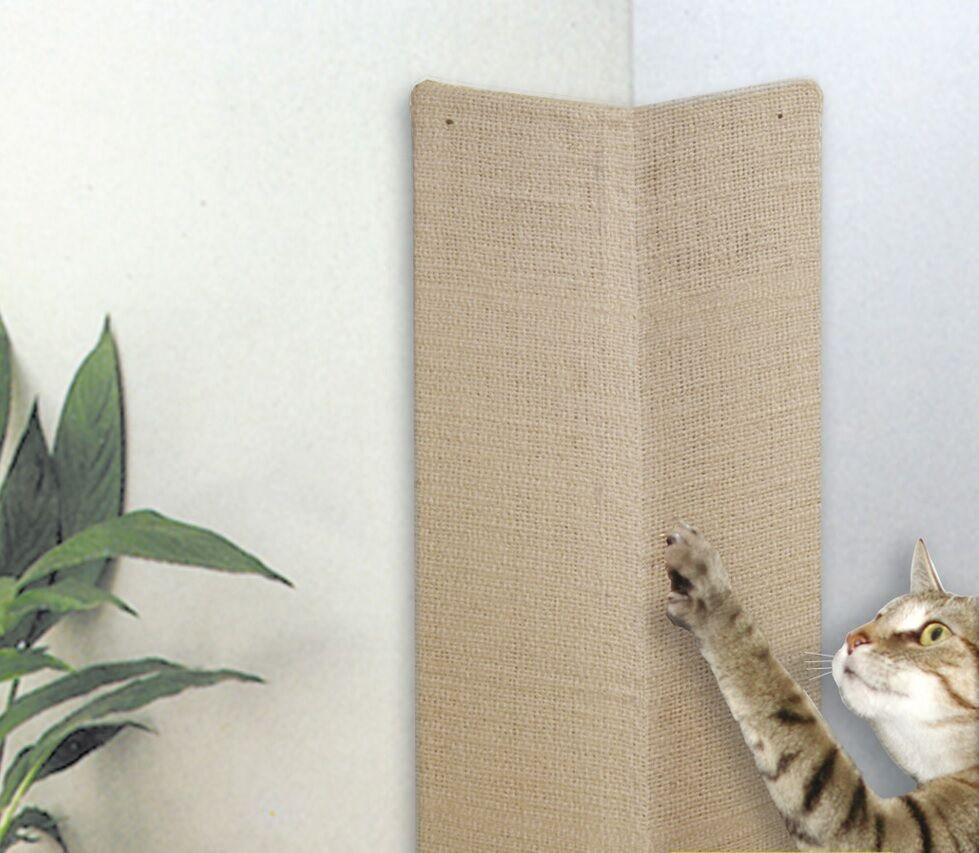 SISAL-Eck-Kratzbrett 750 x 280 Wandkratzbrett Katzenkratzbrett Kratzecke Schutz