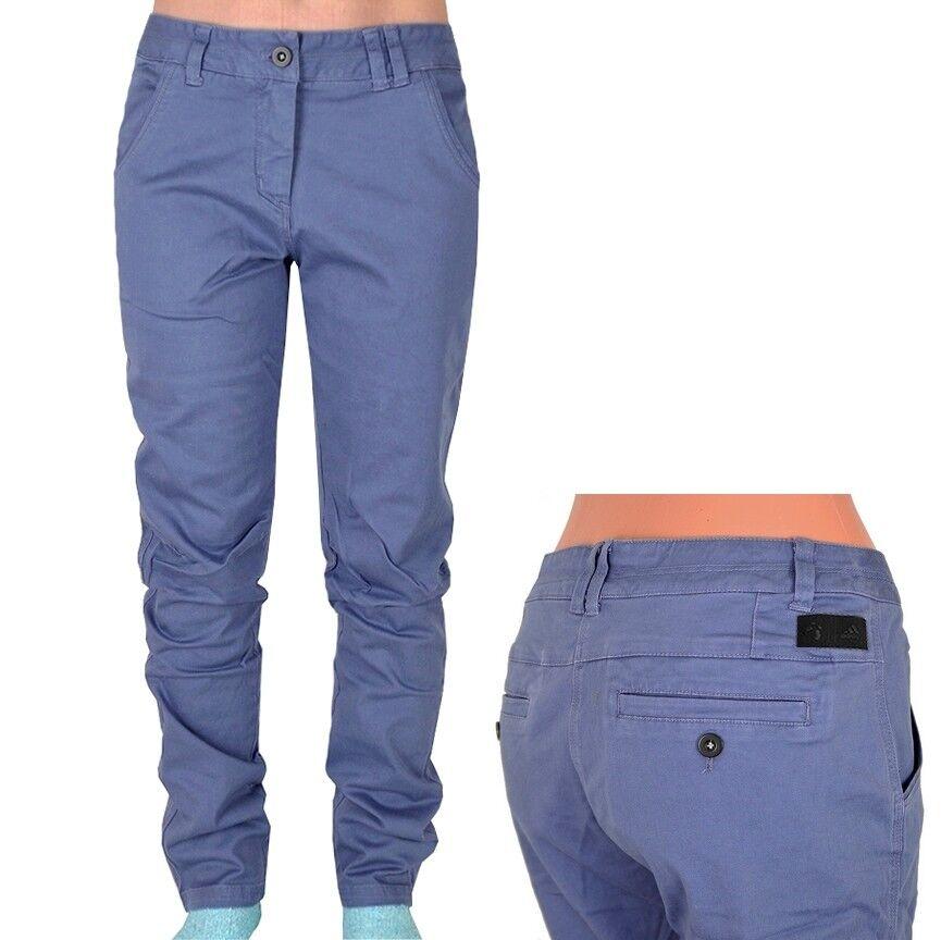 Adidas Urban Hike Pant Damen Wanderhose Outdoor Hose Chino Stretchhose blau/grau