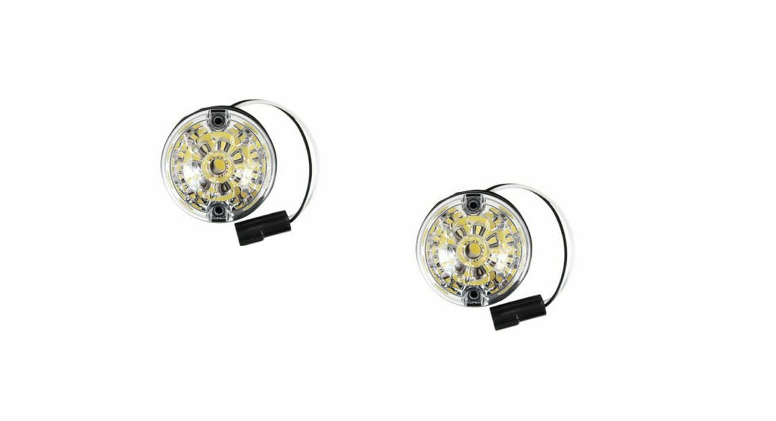 Land Rover Defender Front Indicator Led Lamp Light Set X2