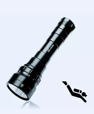 VOLADOR DF60 6000 Lumen Diving Flashlight,Super Bright Underwater Flashlight