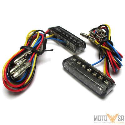 LED Mini Einbau Blinker Rücklicht Streak 3 in 1 Getönt E-geprüft Motorrad Quad