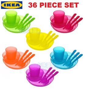 IKEA KALAS Baby Kids Plastic Cups Plates Bowls Cutlery