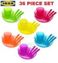 IKEA KALAS Baby Kids Plastic Cups Plates Bowls Cutlery ...