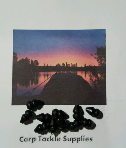 Heli-beads-Black-Colour-Rubber-Beads-25-Per-Pack-Carp-Fishing