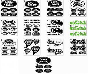 SET OF LANDROVER Vinyl Stickers/ Decals (13 images and 13