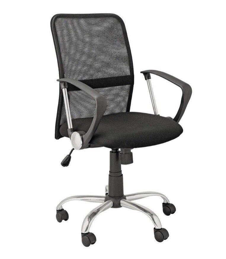 revolving chair gumtree vintage folding chairs brand new black mesh desk office in headington oxfordshire