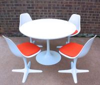 Mid Century Space Age Arkana Dining Table & Chairs Retro ...
