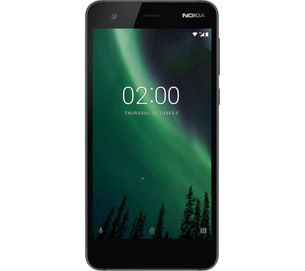 Nokia 2 Single SIM Android Smartphone ohne Simlock Kamera Display schwarz WLAN