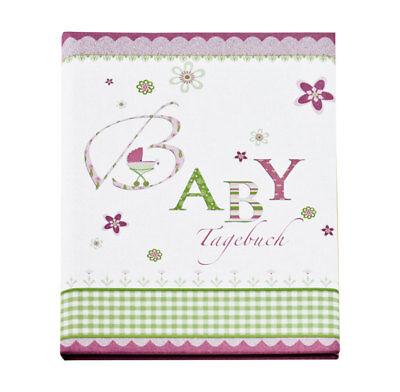 Lovely Baby Tagebuch in 21x28 cm 44 illustrierte Seiten Album: Rosa