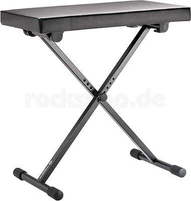 K&M 14065 Keyboard Bank Sitz Stuhl Hocker schwarz höhenverstellbar NEU