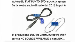 KIT cavo aux Y Lancia Ypsilon dal 2013 e radio Bosch
