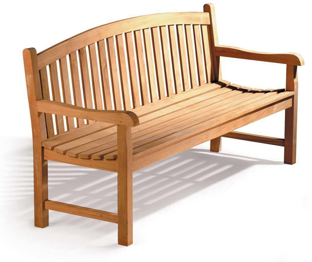 Gloucester Teak Garden Bench 1 5 M C 5ft Curved Back Wooden Bench Assembled 5025574000831 Ebay