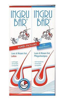 (1L=33,00€) Ingrubar Läuse-Shampoo + Lotion Läuse Laus & Nissen frei