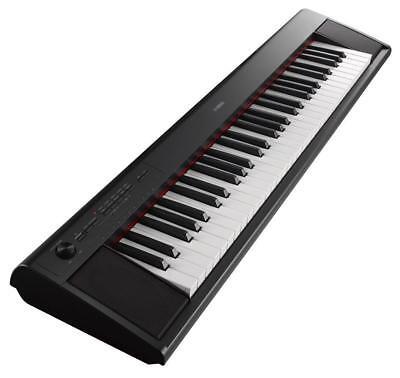 B-WARE YAMAHA PIAGGERO NP-12 PORTABLE STAGE KLAVIER E-PIANO KEYBOARD SCHWARZ