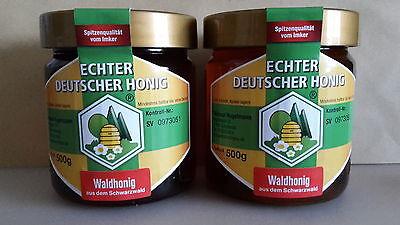 2 x Waldhonig (500g Glas) - vom badischen Schwarzwald Imker bester Bienen Honig