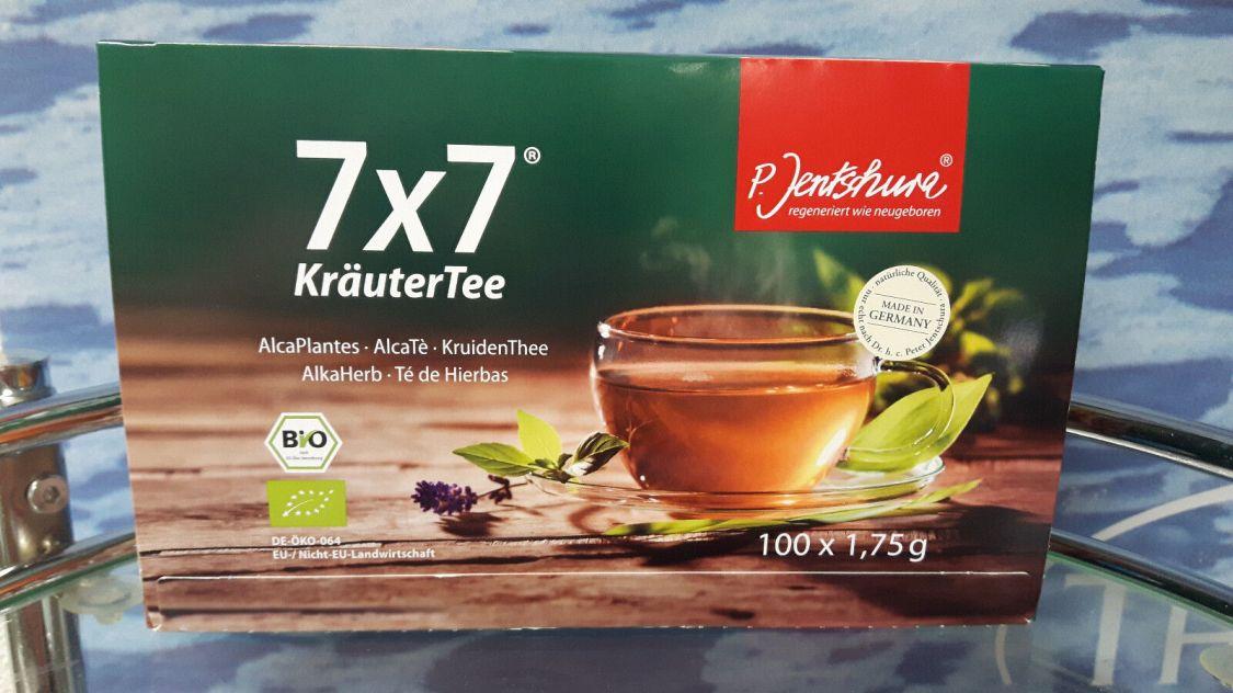 7x7 KräuterTee BIO von Jentschura  100 Beutel á 1,75g (13,69EUR/100g)+ 3 Proben