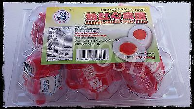 Chinese Cooked Salted Duck Eggs 2 packs 1 dozen eggs USA SELLER FREE SHIPPING