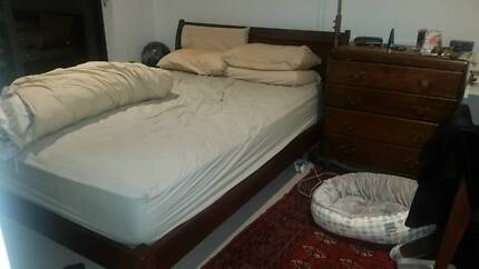 Queen Sized Bed Frame And Bellisimo Mattress