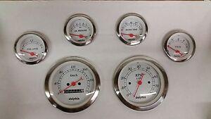 dolphin shark gauges wiring diagram honeywell wifi 9000 thermostat ebay 6 metric mechanical street rod gauge set hot universal