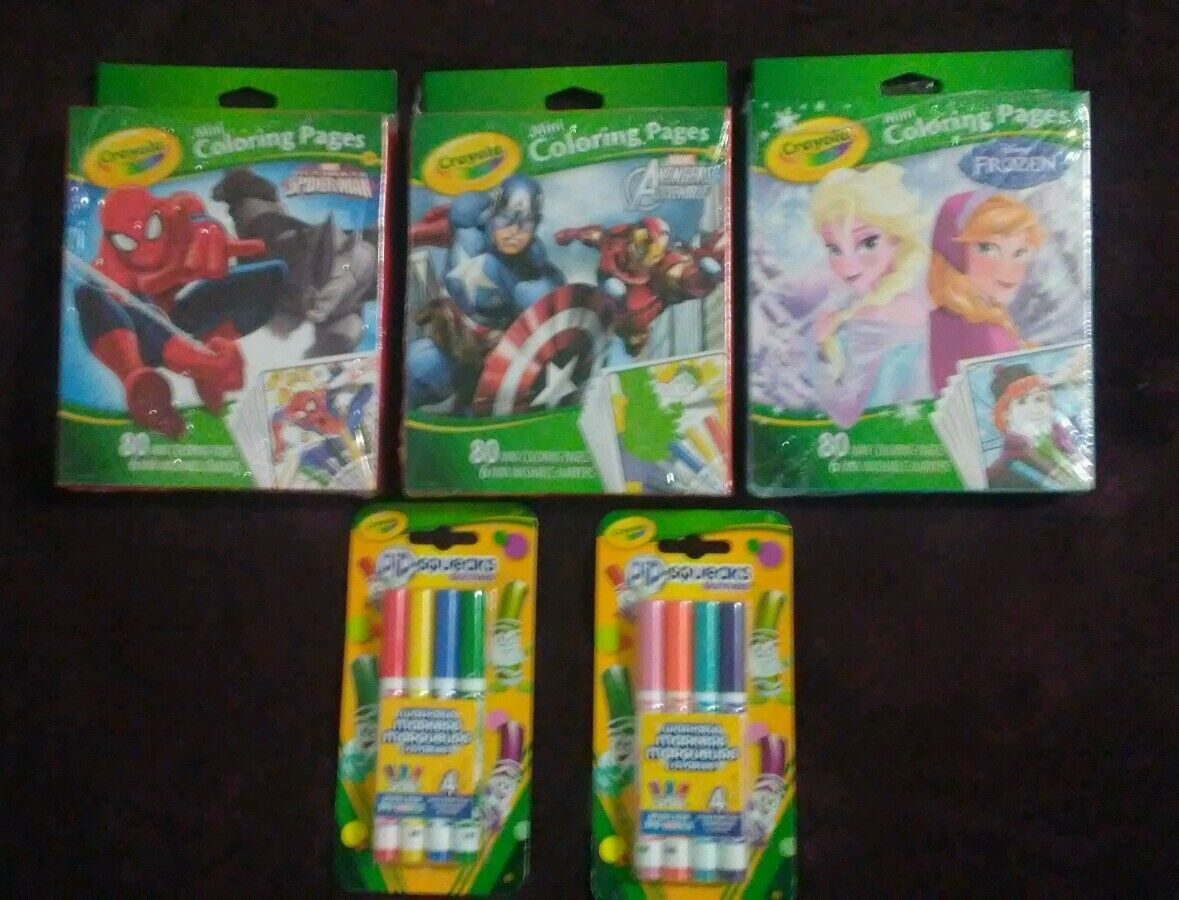 Crayola Mini Coloring Pages Frozen Spiderman Avengers W Xtra Pip