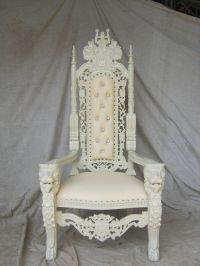 BRAND NEW Lion King Throne Chair Ornate French in Ivory ...