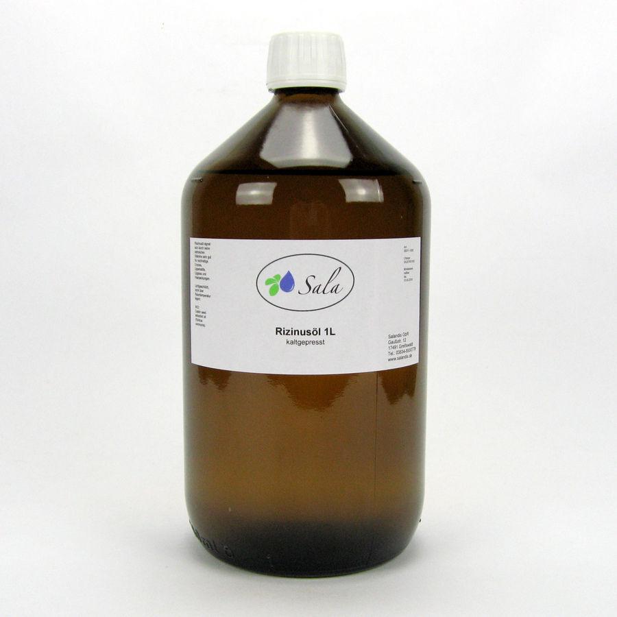 KS (10,45/L) Sala Rizinusöl kaltgepresst 100% rein Ph. Eur. 1000 ml 1 L Glas