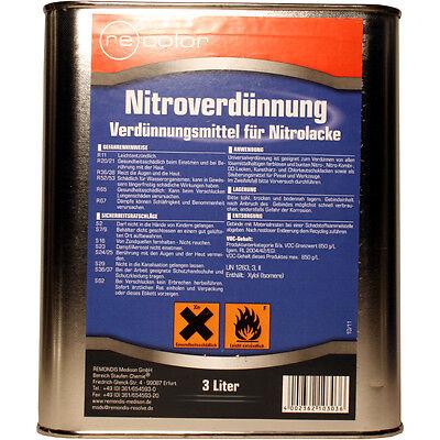 Nitroverdünnung, Universal-Verdünnung, Pinselreiniger, 3 Liter