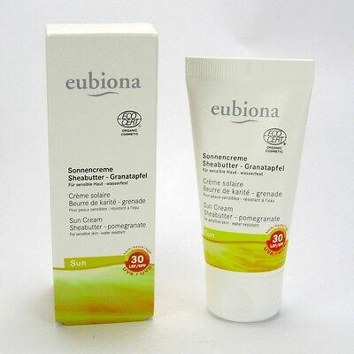 (21,90/100ml) Eubiona Sonnencreme LSF 30 Granatapfel wasserfest 50 ml