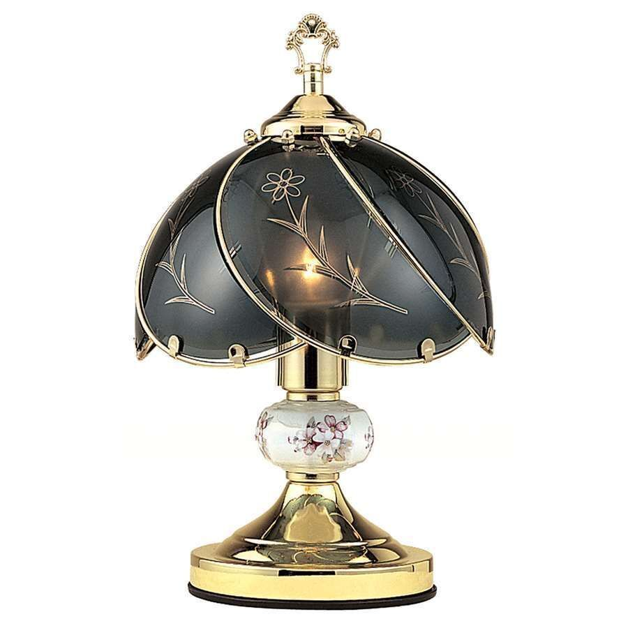 Ore International 32 In Pineapple Antique Gold Table Lamp: Touch Desk Lamps