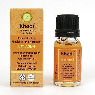 (29,50/100ml) Khadi Ayurvedisches Gesichts & Körperöl Anti Aging 10 ml